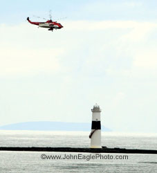 Rescue helicopter at Blackrock