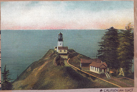old lighthouse postcard