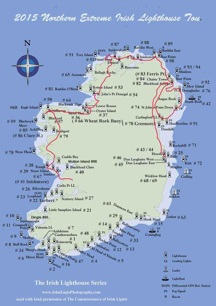 Islands Of Ireland Map.Northern Irish Coastal Lighthouse Tour