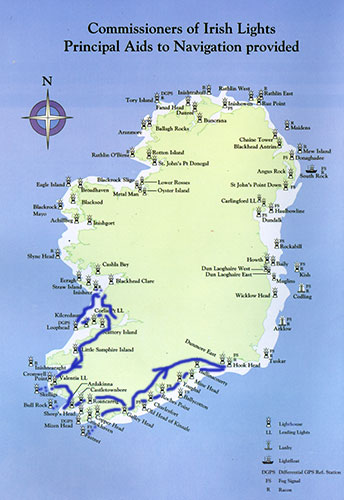 Lighthouses In Ireland Map.Lighthouses Of Ireland Southern Tour