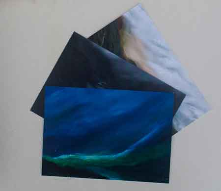 Oil painting postcards