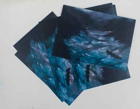 postcards of oil paintings